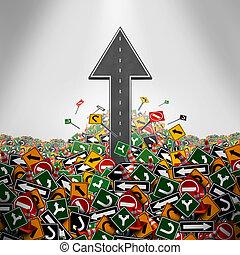 direction, liberté, concept
