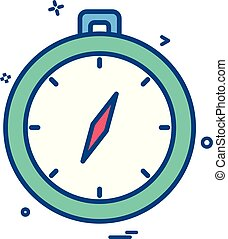 direction navigation compass icon vector design