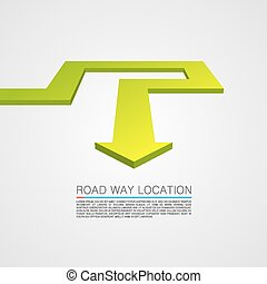 Direction of the trajectory path. Vector Illustration