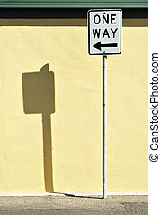 Direction - One way sign