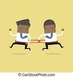 direction, opposé, autre., africaine, courant, chaque, homme affaires