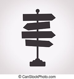 Direction road sign icon