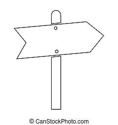 Direction Road sign icon illustration design