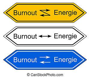Direction sign burnout