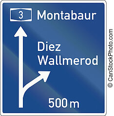Direction Sign On Motorways