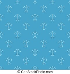 Direction sign pattern vector seamless blue