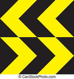 direction, signe jaune, bidirectionnel, changement, extrême