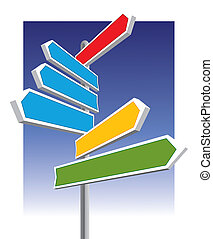Direction signs good for message and price, vector ...