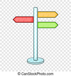 Direction signs icon, cartoon style