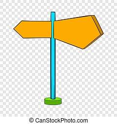 Direction signs icon in cartoon style
