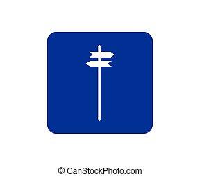 direction singpost icon