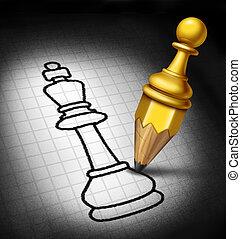direction, stratégie