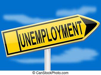 Directional arrow - unemployment