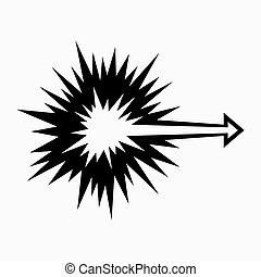 Directional explosion symbol - Directional explosion,...