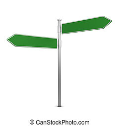 Directional sign. 3d illustration isolated on white...
