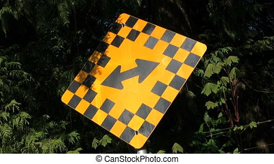 Directional Sign - A directional sign with two direction...