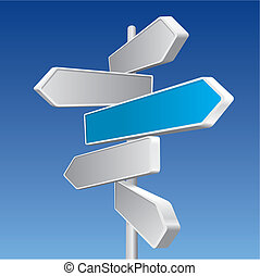 Directional Signs In Business Colors