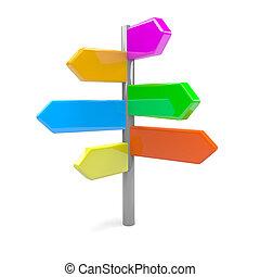 directionl, flechas, muestra del camino