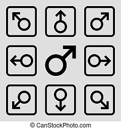 Directions Flat Squared Vector Icon