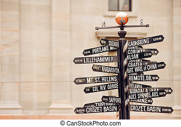 Directions to landmarks