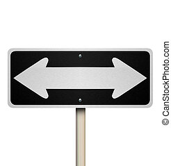 Directions Two Way Road Street Sign Instructions Leadership Management Guide