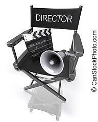 Director Chair - Concept of Industry cinematographic.