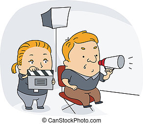Director - Illustration of a Director at Work