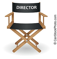 director movie chair vector illustration isolated on white...