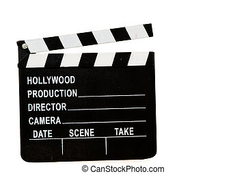 Director Sign - Black and white director\\\'s cut action...