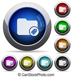 directorio, botones, redondo, tagging, brillante