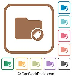 directorio, simple, tagging, iconos