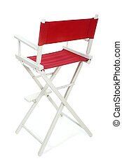 Directors Chair 2 - Director\\\'s chair with red seat and...