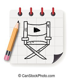 Director's chair doodle