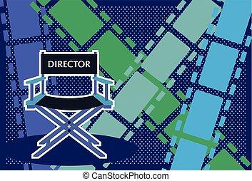 Directors chair Film vector