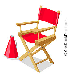 Director's Chair - Stock vector of a red director chair