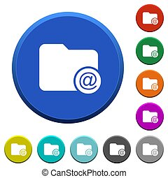 Directory email beveled buttons - Directory email round...