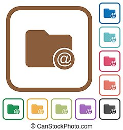 Directory email simple icons