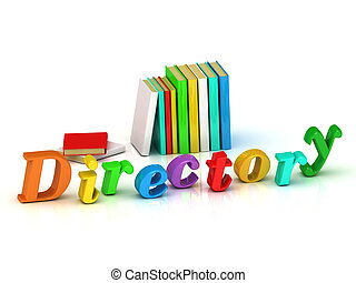 directory inscription bright volume letter and textbooks and...