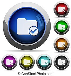 Directory ok round glossy buttons