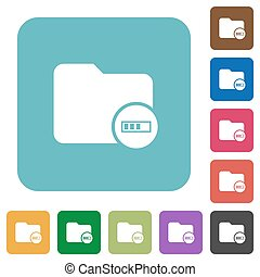 Directory processing rounded square flat icons