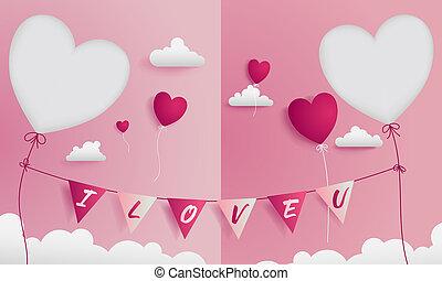 direita, doce, par, saudação, valentine, 2, die-cuts, tem, cartão, esquerda
