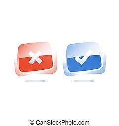 direita, falso, levantamento, experiência, errado, botão, mau, bom, questionário, sofra, verdadeiro, ou
