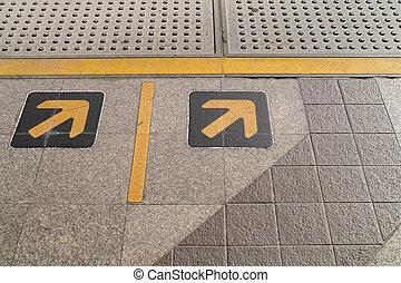 direita, passeio