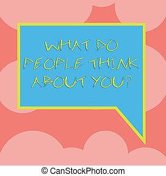 direita, pessoas colorem, foto, mão., em branco, borda, que, escrita, nota, como, fala, tu, bolha, negócio, mostrando, outros, juiz, youquestion., aproximadamente, este, retangular, showcasing, pensar
