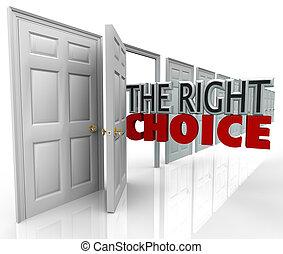 direita, porta aberto, escolha, escolher, novo, caminho,...