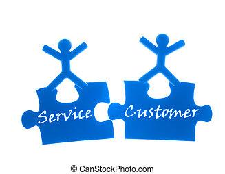 direita, serviço, para, customer.