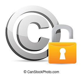 direitos autorais, –, mau, segurança, proteção