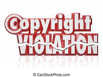 direitos autorais, violação, legal, direitos, infringement,...