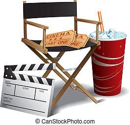 direktör, film, stol