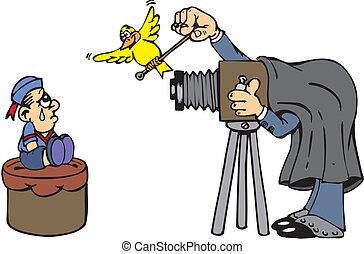 diretor, película câmera